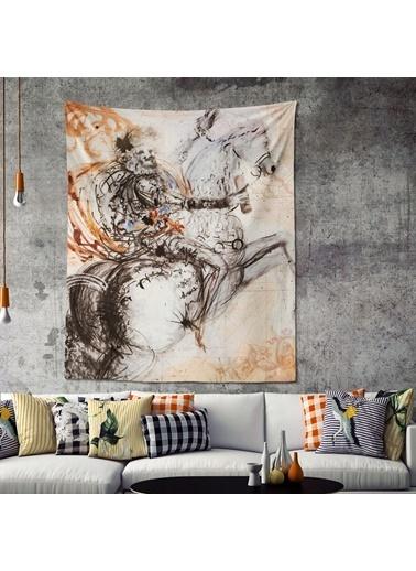 Eponj Home Tapestry Duvar Örtüsü 120x145 cm Victory Bej Bej